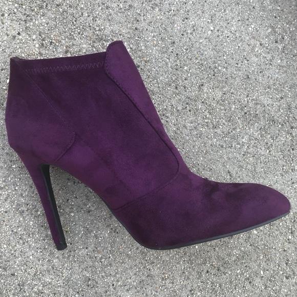 e94774e12f6 7.5 Purple Sock BOOTIE with 3 inch heel